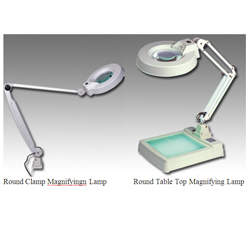 Round Clamp Magnifyingn Lamp